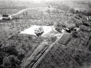 Dr Hugh Henry's house aerial views Cheviot 1947