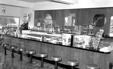 G'town Pharmacy the new lunch counter Jan. 1955 (1)