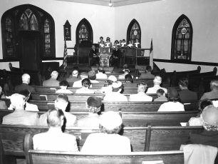 Methodist Church service N G'town 1956