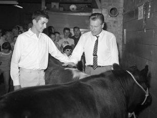 Andrew Marchisio with Gov. Rockefeller at Col. Cty. Fair 1962