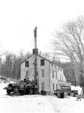 Hugh McLean & Sons drilling in Cheviot 1960 (2)