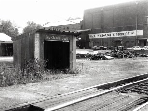 Remains of old plus new G'town Railroad Station 1961