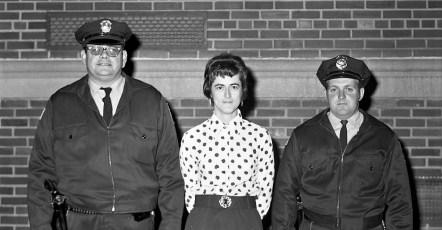 Officer Jim Bell, Mrs. Larsen & Officer George Sharpe G'town 1974