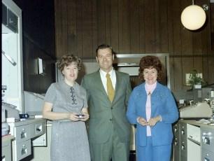 State Bank Of Albany new G'town Branch Ellen Moore, Robert Keller & Rita Rifenburgh Dec.1974