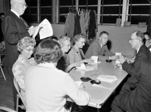 Greenport School voting on centralization April 1965