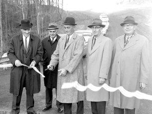 Dales Bridge Opening Livingston Ribbon Cutting 1964
