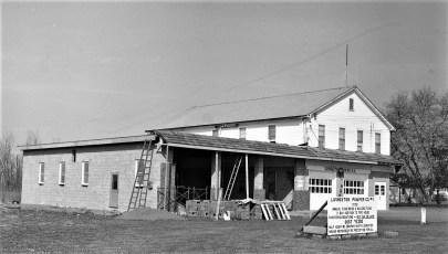 Livingston's new Fire House under construction Jan. 1971