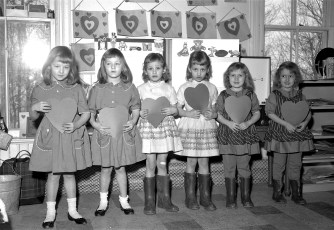Sixth Street School 3 sets of twins Kinderhook 1963