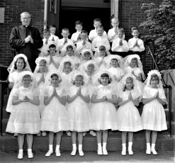 Holy Name Church First Communion Stottville 1964
