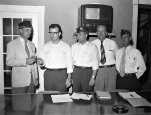 Philmont American Legion passing the gavel 1956