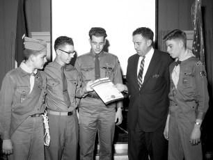 Philmont Boy Scout Troop 119 Recieving Charter 1963