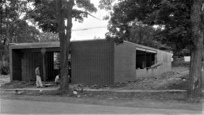 Philmont Post Office under constuction 1961