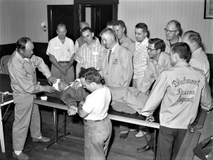 Philmont Rescue Squad with new ambulance 1959 (3)