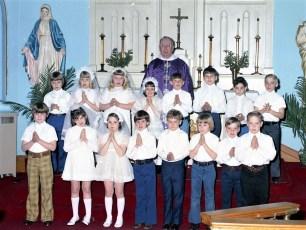 Sacred Heart Church 1st Communion Philmont 1973