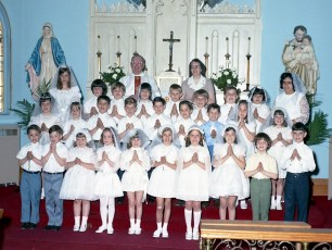 Sacred Heart Church First Communion Philmont 1971