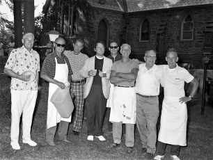St. Paul's Church barbeque prep Tivoli 1976 (2)