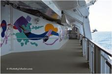 The promenade deck provides great sea views and lots of space for walking.