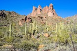 Superstition Mountains where many hope to find the gold of the Lost Dutchman Mine.