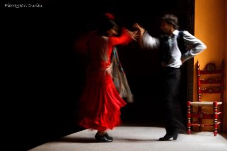 """Démonstration de Flamenco par Jeranys """"La Yera"""" et Juan Carlos Cardoso à La Casa de la Memoria, Séville, 28 octobre 2015"""