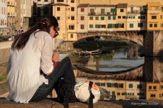 Dessinatrice au Ponte Vecchio, Florence, 13 Septembre 2015