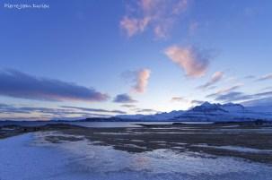 Coucher de soleil sur Berufjordur, Islande