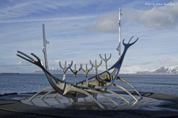 """Le Drakkar """"Solfar"""", Reykjavik, Islande"""