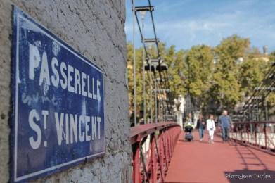 Sur la Passerelle Saint-Vincent