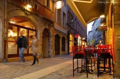 Début de soirée dans le Vieux-Lyon, 19 Avril 2016