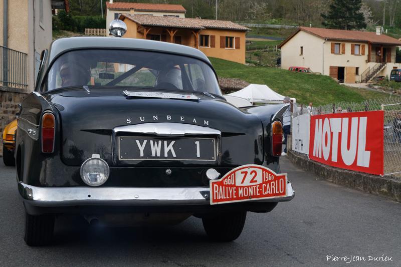 Avec une plaque Monte-Carlo 1960, Tour Auto à Marchampt, 20 Avril 2016