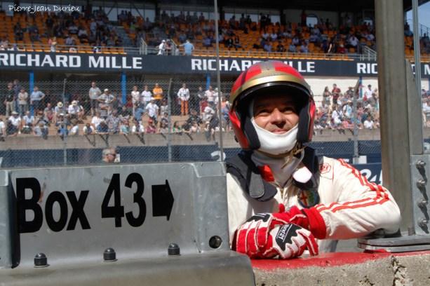 Pilote prêt au départ, Le Mans, 10 juillet 2016