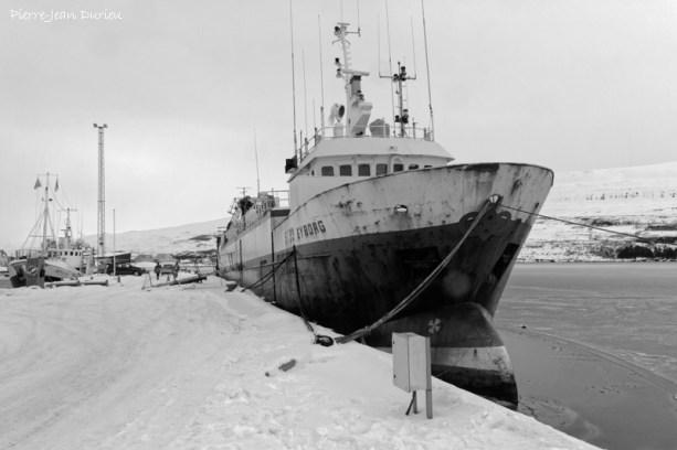 Port d'Akureyri, Islande, Mars 2016