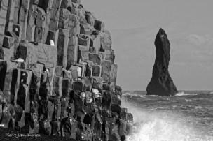 Les falaises de Vik, Islande, Mars 2016