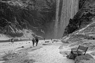 Cascade de Skogafoss, Islande, Mars 2016
