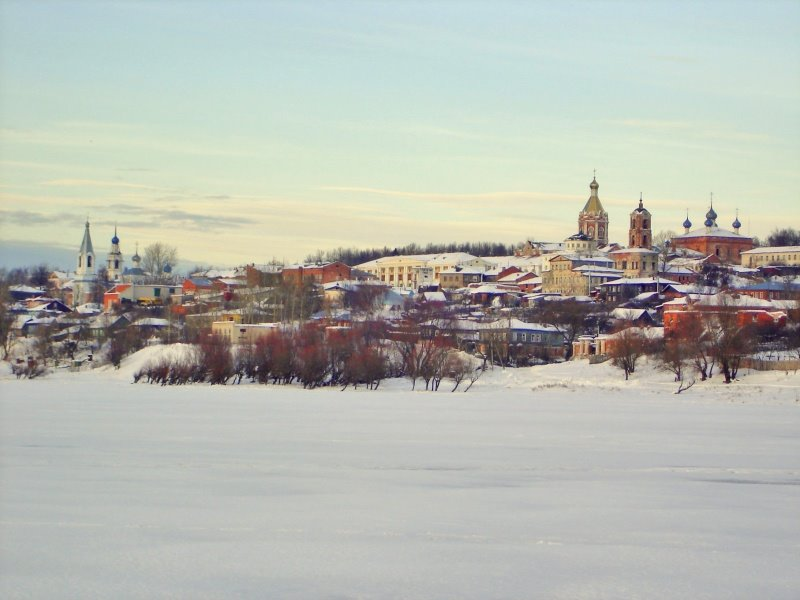 Фото Касимов/вид с другого берега Оки в городе Касимов