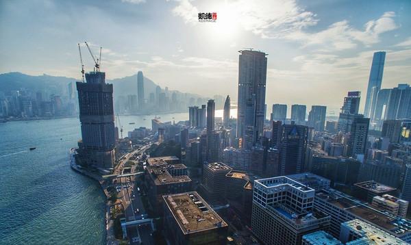 空中顏值:航拍香港維多利亞灣