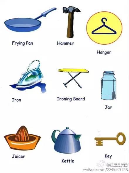 最實用:日常生活用品的英文名稱全在這里! _搜狐教育_搜狐網
