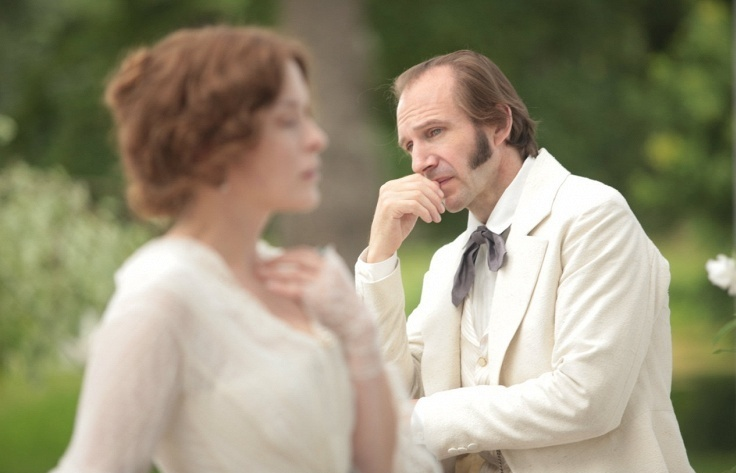 Ralph Fiennes in a movie Two Women, a screen version of Ivan Turgenev's 19th century novella