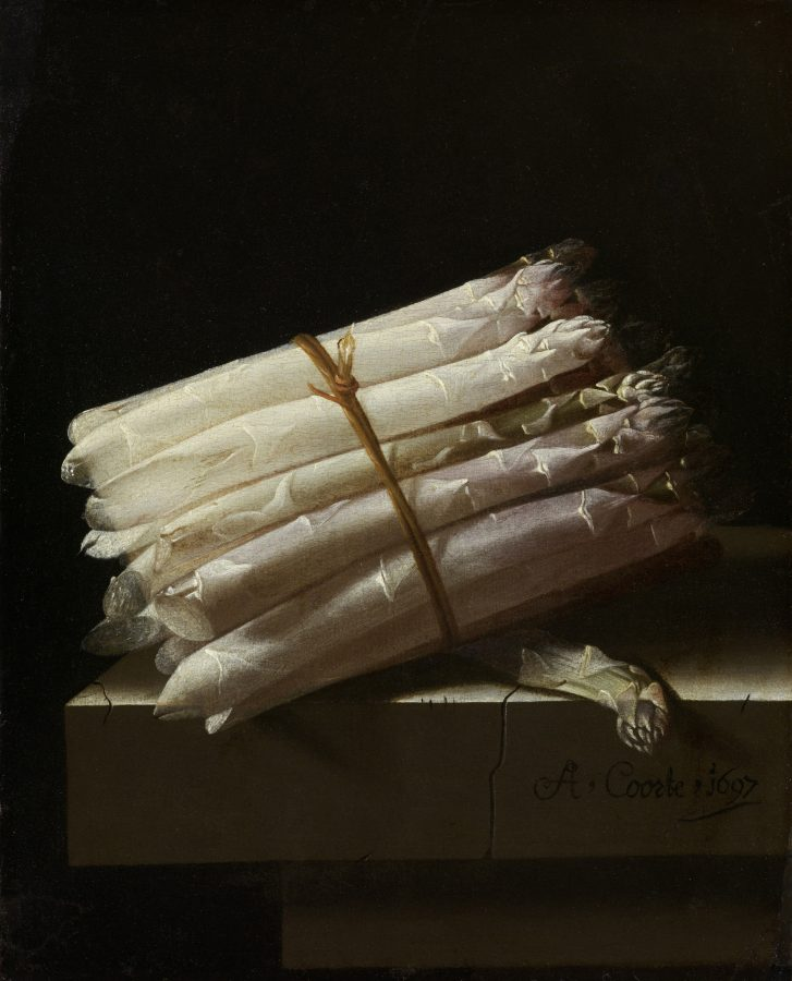 Still life with asparagus – Adriaan Coorte
