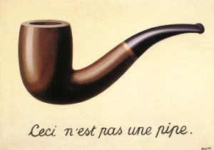 The treachery of images - Rene Magritte