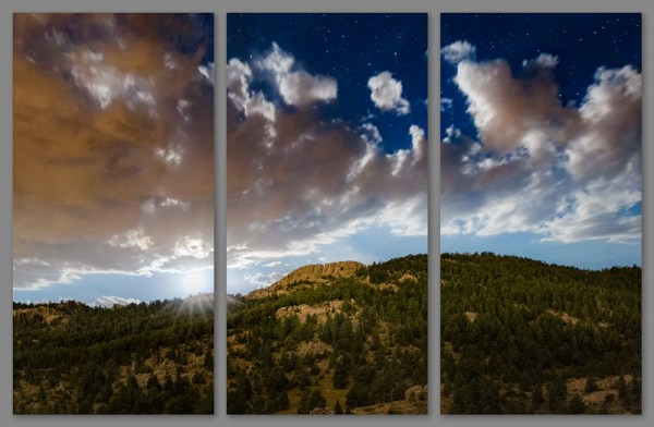 Horsetooth Moonset by Jeanie Sumrall-Ajero