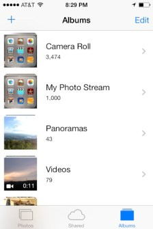 iOS 7 - Choose the album you want