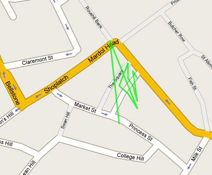 Ian Leonard's tracked map