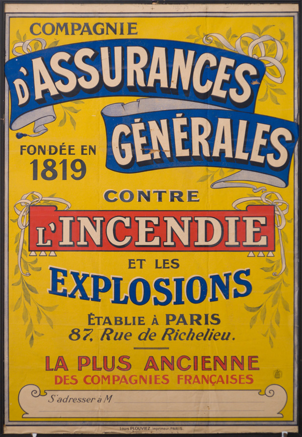 Fire insurance poster