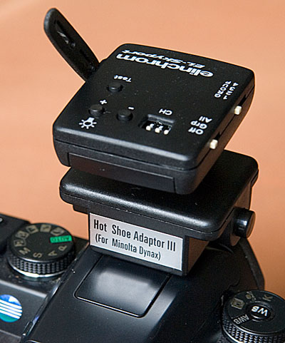 Skyport RX transmitter on camera