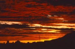 Crepuscular clouds in Caracas, Venezuela (circa 1994)