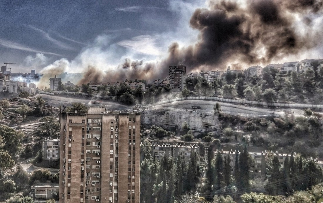 Winner of the Photoreportage Contest: Fires in Haifa