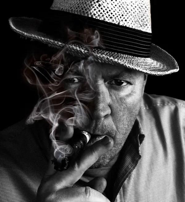 Black and white photo by Joakim Lloyd Raboff: smoking man