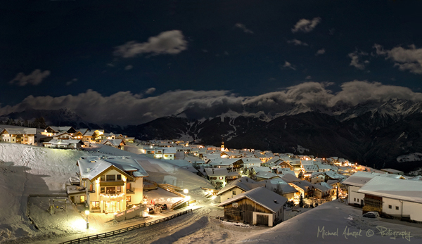 Photo by Michael Adamek: small village at night