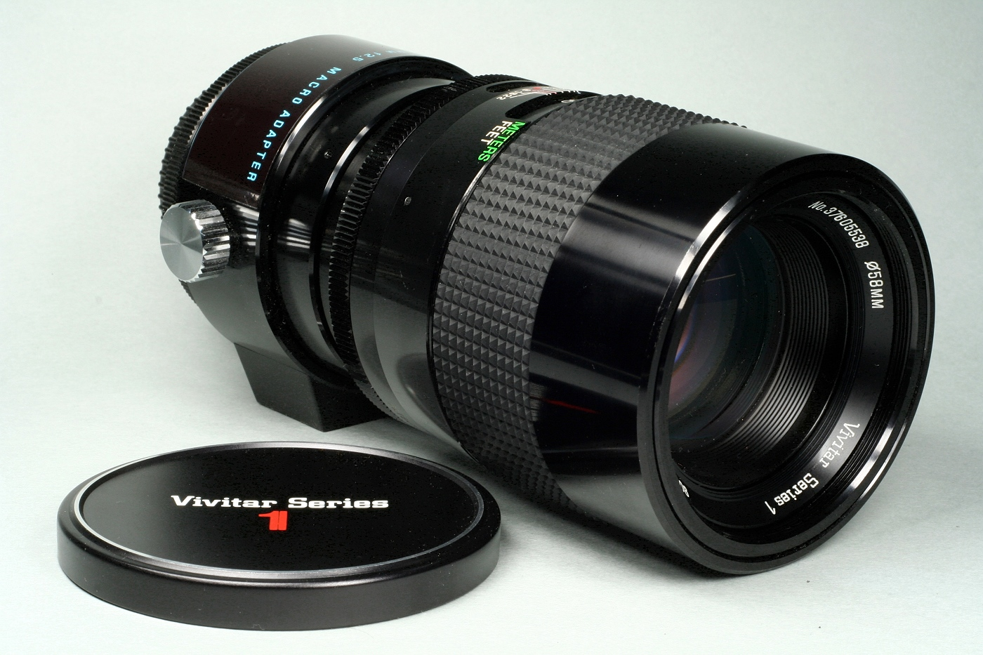 A 90mm macro lens from Vivitar.