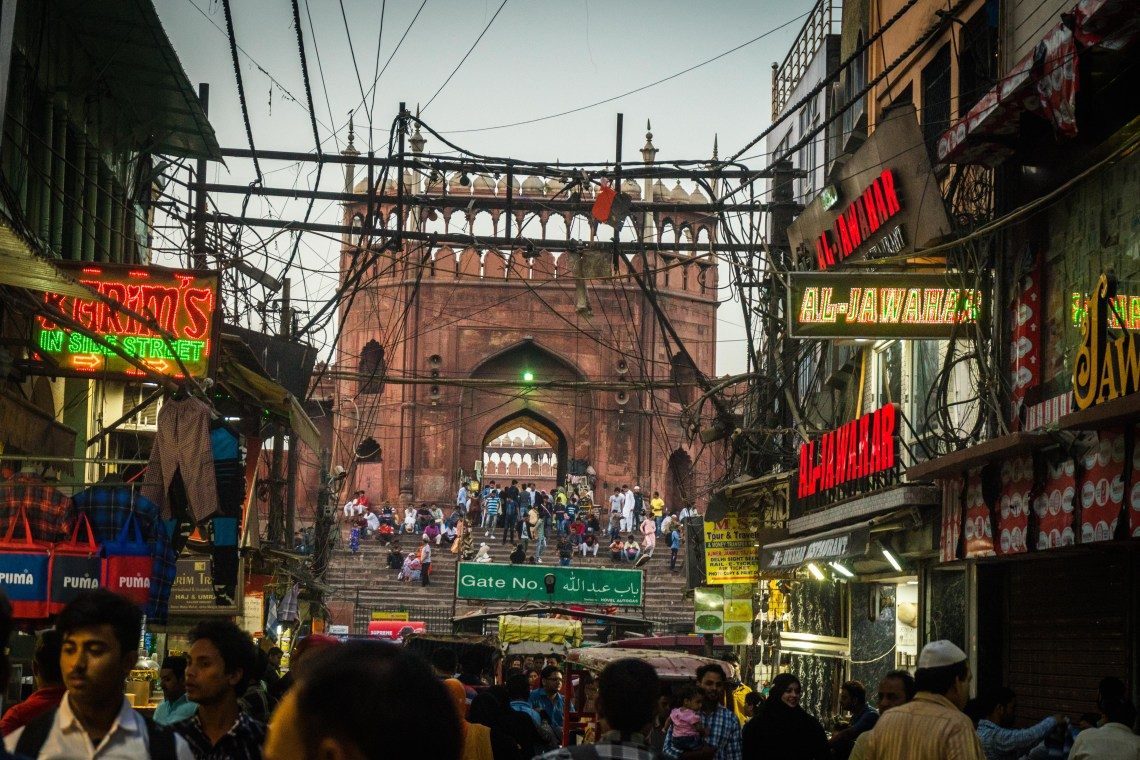 The biggest mosque of India, sitting right in the heart of old Delhi